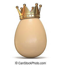 Egg with gold crown 3D