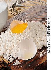 Egg yoke and baking mix