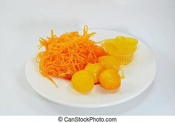 egg yolk golden Thai sweet dessert