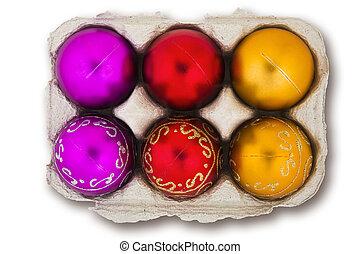 eggbox, baubles natale