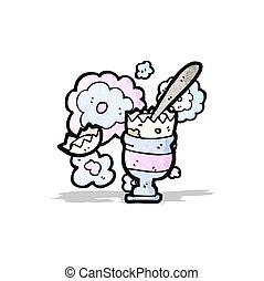 eggcup, oeuf, dessin animé
