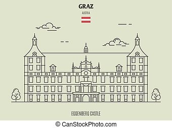eggenberg, 城, 中に, graz, austria., ランドマーク, アイコン
