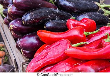 Eggplant and other vegetables