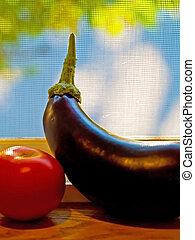 Eggplant and Tomato 1
