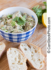 Eggplant dip - healthy spread for a tapas table