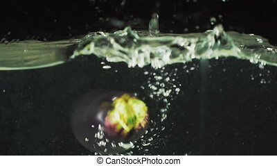 eggplant falls into the water