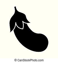 eggplant icon- vector illustration