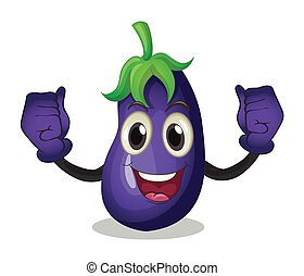 Eggplant - Illustration of an eggplant with face