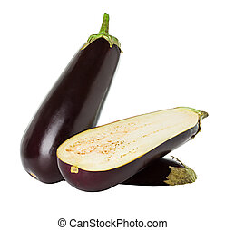 eggplant isolated on white background