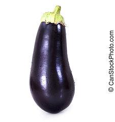 One eggplant isolated on white background