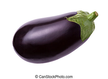 Eggplant Isolated with clipping path