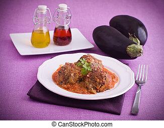 Eggplant meatballs.
