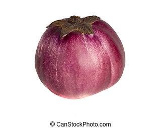 Eggplant on a white background