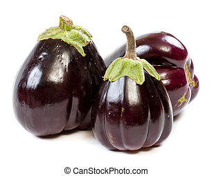 eggplant on a white background