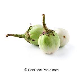 Eggplant on isolated white background