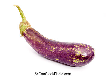 Eggplant over white background