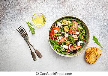 Eggplant salad with tomatoes