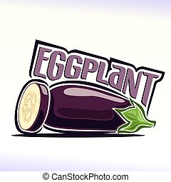 Eggplant - Vector illustration on the theme of the logo for...