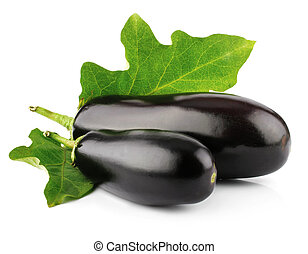 eggplant vegetable fruits isolated on white background