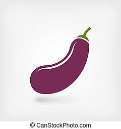 eggplant vegetable symbol. vector illustration - eps 10