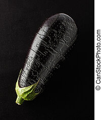 Eggplant with printed circuit board