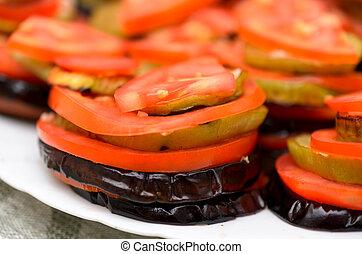 Eggplant with tomato