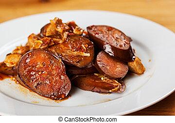 Eggplants - A shot of a eggplants chinese food