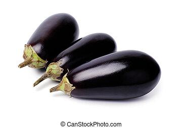 Eggplants isolated on white background