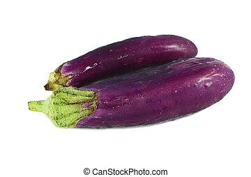 eggplants isolated on white
