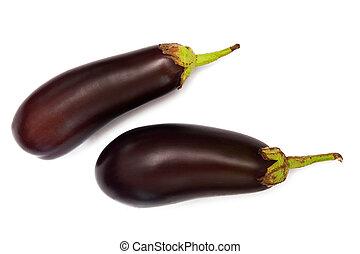 Eggplants - Two eggplants isolated on white