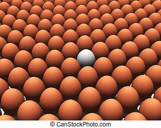 Eggs - 3D rendered eggs. White egg for different concept