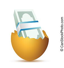 eggs and bills illustration design