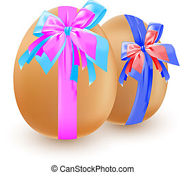 eggs and bow