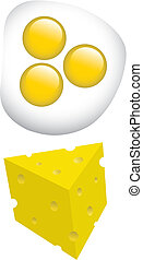 eggs and cheese - breakfast eggs and cheese vector...