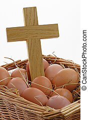 Eggs and Cross in a Basket
