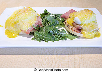 Eggs Benedict Breakfast Dish - Eggs Benedict with Canadian...