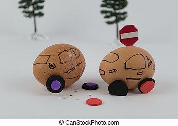 Eggs car Accident