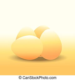 Eggs , chicken egg , vector