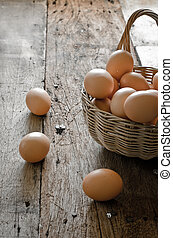 eggs , chicken eggs Eggs ,eggs are in the basket.