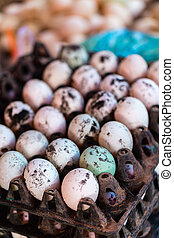 Eggs for sale at market