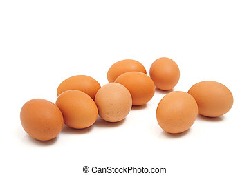 Eggs iaolated on white background