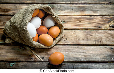 Eggs in a bag.