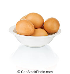 Eggs in a bowl.