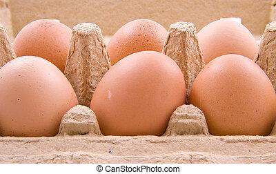 Eggs in a box