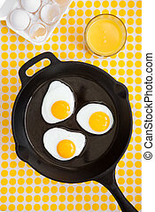 Eggs in Cast Iron Skillet
