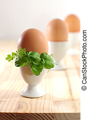 Eggs in eggcups
