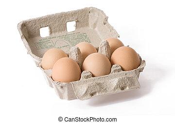 eggs in paper egg carton