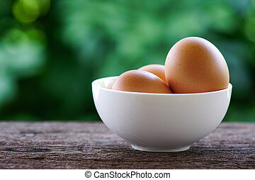 eggs in white cup