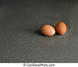 eggs isolated on a Grey background