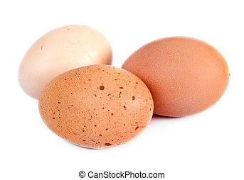 Eggs, isolated on a white background